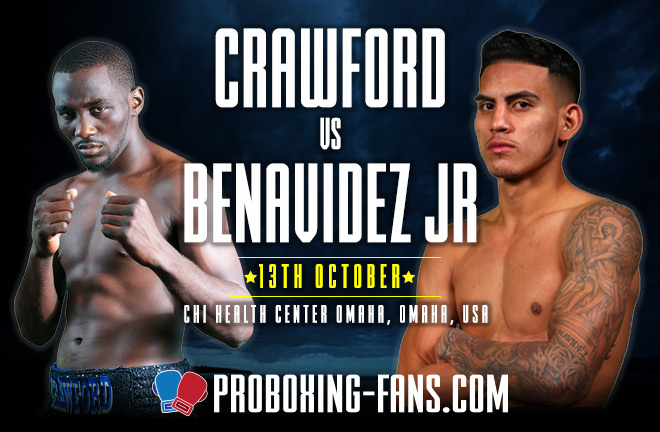Terence Crawford (33-0, 24 KOs) takes on unbeaten challenger Jose Benavidez Jr tonight in Omaha.