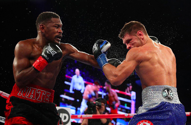 Daniel Jacobs prevails against Sergiy Derevyanchenko for the vacant IBF Middleweight Title