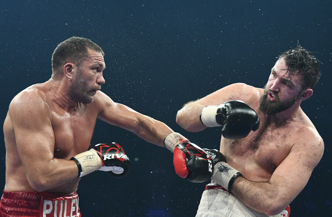Pulev was able to take advantage of the eye injury Fury sustained with some heavy blows.