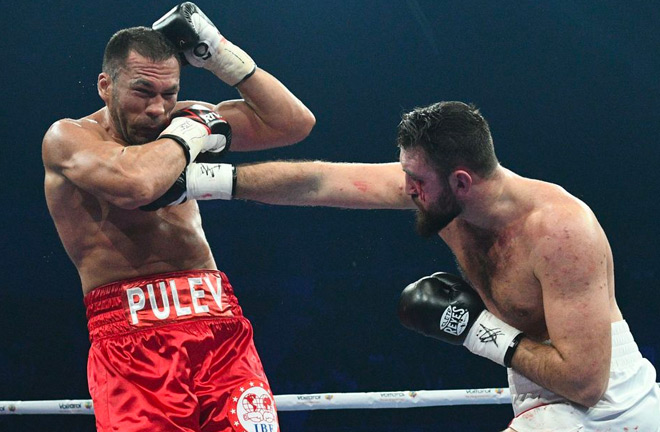 Fury was unable to see of Pulev after sustaining a bad cut to his eye early on.