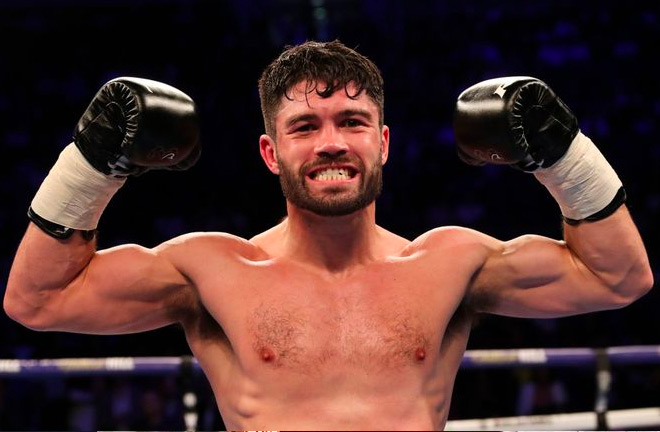 John Ryder stops Andrey Sirotkin 2 minutes and 54 seconds in to the seventh round sending the Russian to the canvas with a body shot.