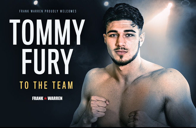 Tommy Fury signs to Frank Warren
