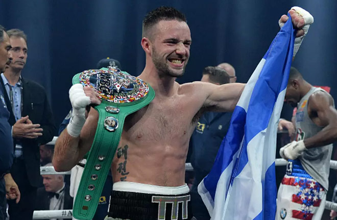 Josh Taylor defeats Ryan Martin on Saturday night. Photo Credit: The Independent