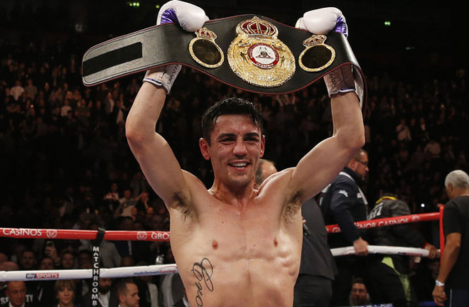 The Mancunian claimed the WBA lightweight title in 2015 Credit: Sky Sports