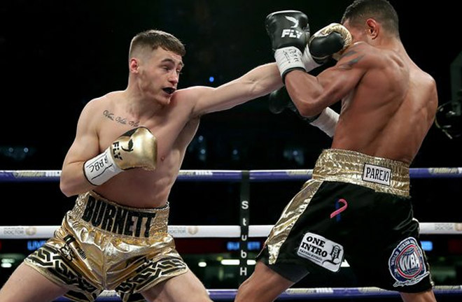 Burnett relinquished the IBF Title, and outpointed Yonfrez Parejo back in March. Photo Credit: Belfast Live