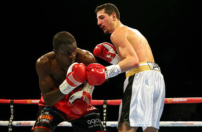 Andrea Scarpa against Ohara Davies. Photo Credit: Getty Images