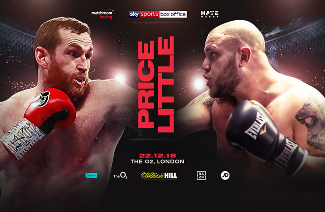 David Price and Tom Little meet on the undercard of the crunch Heavyweight rematch between Dillian Whyte and Derek Chisora at The O2. Photo Credit: Matchroom Boxing