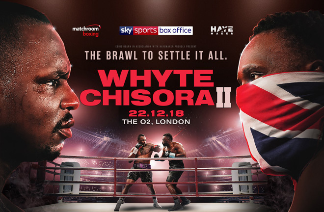 Dillian Whyte and Derek Chisora meet in one of the most highly-anticipated Heavyweight rematches in recent times at The O2 in London on December 22, live on Sky Sports Box Office in the UK and DAZN in the US.