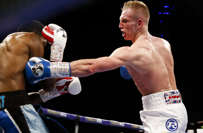 Ted Cheeseman clashes with undefeated Spaniard Sergio Garcia for the EBU European Super-Welterweight crown. Photo Credit: Matchroom Boxing