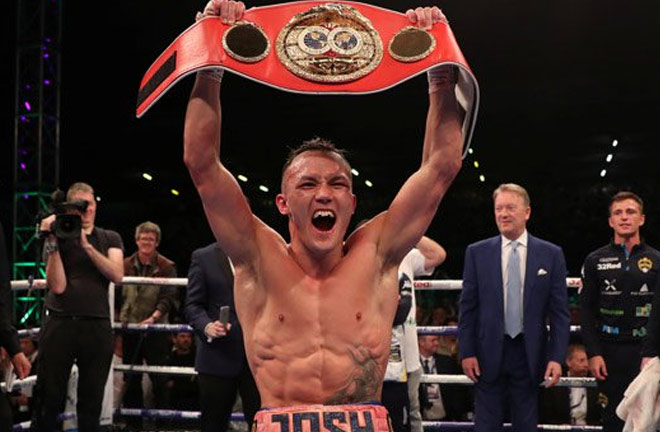 Warrington believes he has what t it takes to beat Frampton. Photo Credit: The Ring Magazine