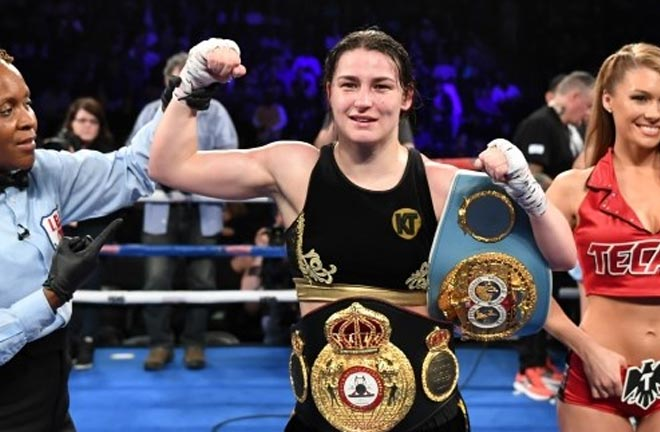 Katie Taylor takes on Eva Wahlstrom this weekend in New York. Photo Credit: Irish Examiner