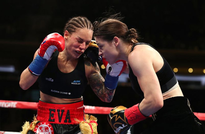 Katie Taylor successfully defended her world titles against Eva Wahlstrom. Photo Credit: Getty Images