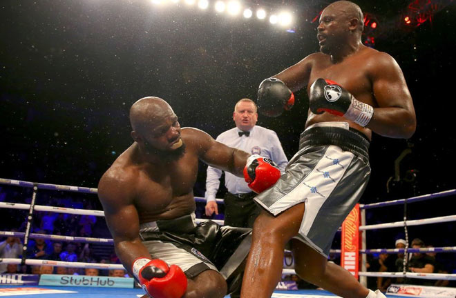 Dereck Chisora knocks out Carlos Takam in eighth round of the Whyte-Parker undercard. Photo Credit: ESPN