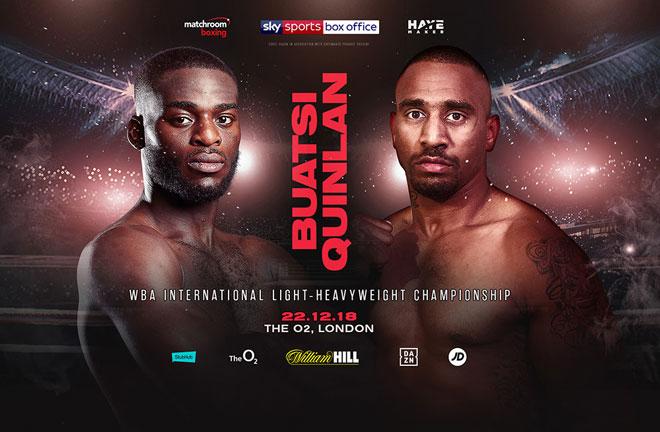 Joshua Buatsi will defend his WBA International Light-Heavyweight title against Australia's Renold Quinlan. Photo Credit: Matchroom Boxing