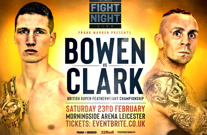 Bowen-Clark British Title Bust Up Lands In Leicester. Photo Credit: Frank Warren