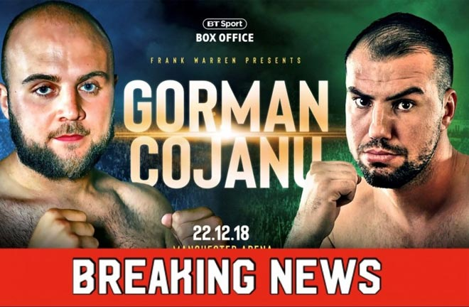 Nathan Gorman To Face Razvan Cojanu After Alex Leapai Pull Out. Photo Credit: Frank Warren