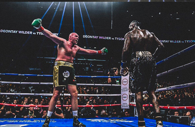 Fury was able to get under Wilders skin throughout the fight by taunting him with his hands up or behind his back.