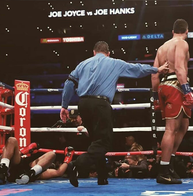 Joe Joyce was impressive with a first round KO on Joe Hanks
