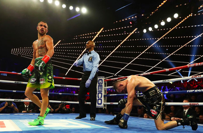 Vasyl Lomachenko unifies the lightweight division in just his second fight at 135lbs.