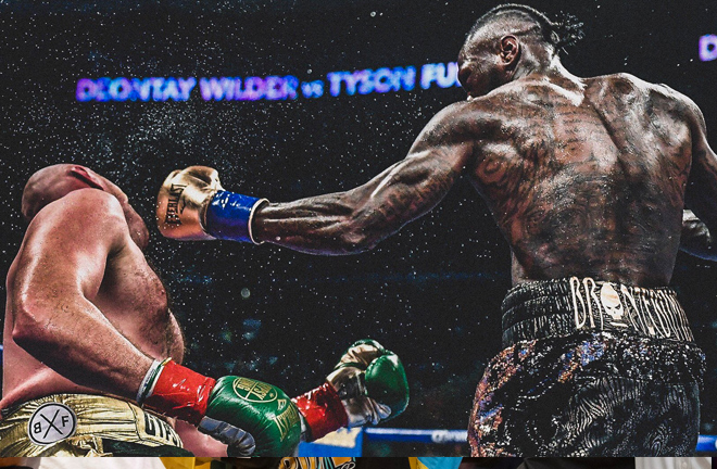Wilder vs Fury - an epic clash of styles at the Staples Center in Los Angeles last night.