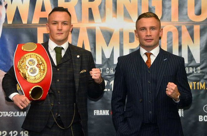 Frampton-Warrington go head to head this weekend. Photo Credit: Belfast Live