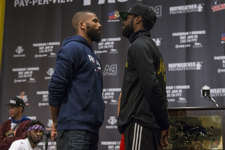 Jack-Browne face off. Photo Credit: BoxingScene