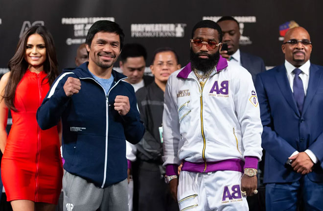 Pacquiao vs Broner go head to head this Saturday at the MGM Grand, Las Vegas. Photo Credit: Bad Left Hook