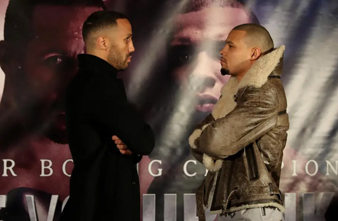 DeGale-Eubank Jnr face off. Photo Credit: Evening Standard
