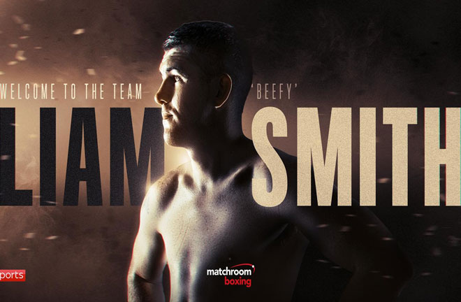 Liam Smith has signed a three-fight promotional deal with Matchroom Boxing. Photo Credit: Matchroom Boxing