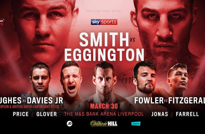 Liam Smith will take on  Sam Eggington  on March 30. Photo Credit: Matchroom Boxing