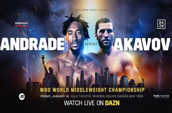 Andrade v Akavov – Pro Boxing Fans Big Fight Preview & Prediction. Photo Credit: Boxing News 24