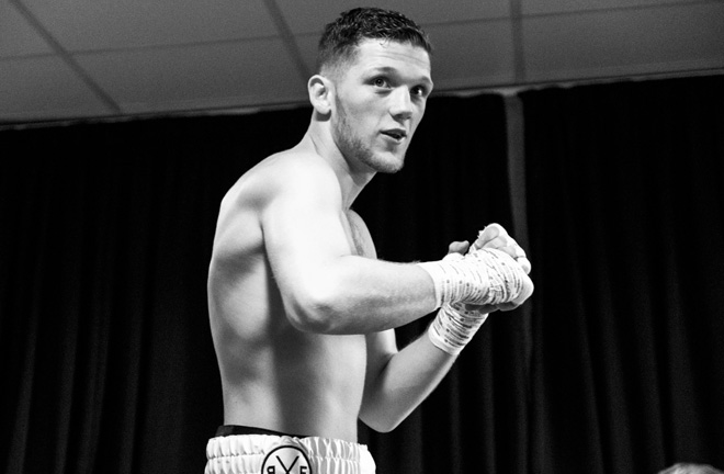 John Docherty is determined to win World title of his own one day. Photo Credit: Matchroom Boxing