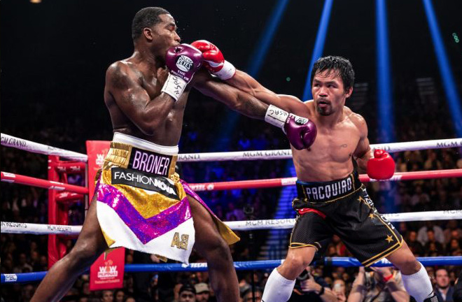 Pacquiao successfully defended his WBA welterwight title on Sunday, beating Adrien Broner by unanimous decision. Photo Credit: Boxing News