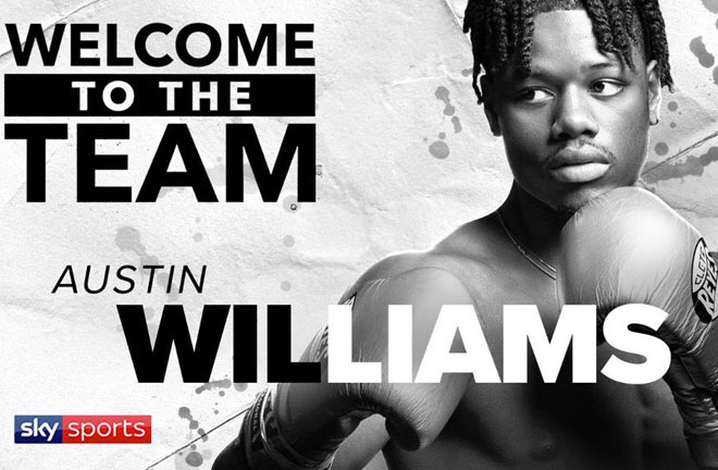 Austin Williams has signed a promotional deal with Matchroom Boxing USA. Photo Credit: Matchroom Boxing
