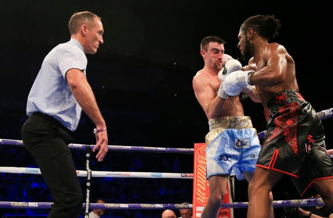 Richards with an impressive display defeated Ball in 3 rounds. Photo Credit: Sky Sports