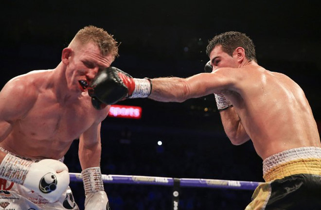 Cheeseman was out boxed by Garcia on Saturday night. Photo Credit: Boxing Scene
