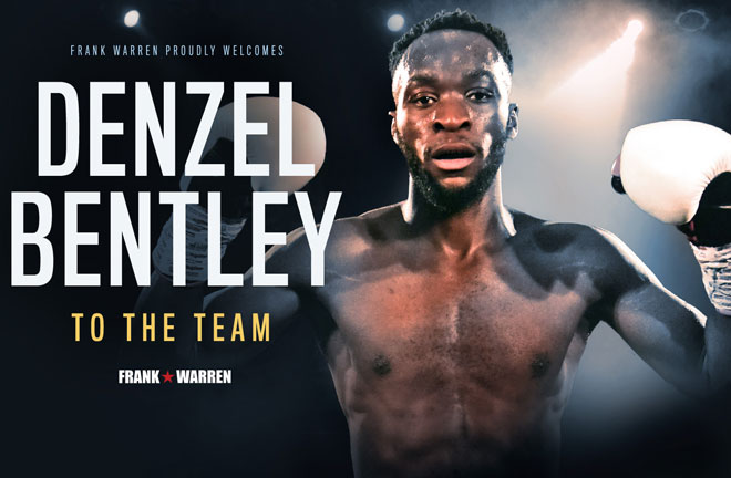 Denzel Bentley signs a promotional deal with Frank Warren. Photo Credit: Frank Warren