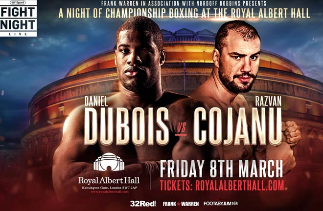 Dubois believes he is not that far behind the likes of Fury and Joshua. Photo Credit: Frank Warren