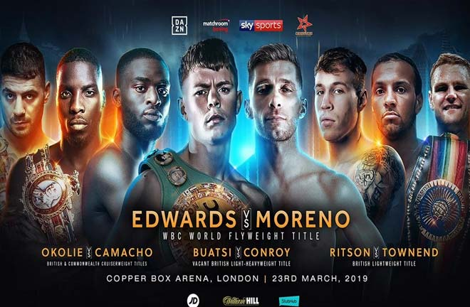 Quotes from Edwards-Moreno Press Conference. Photo Credit: Matchroom Boxing