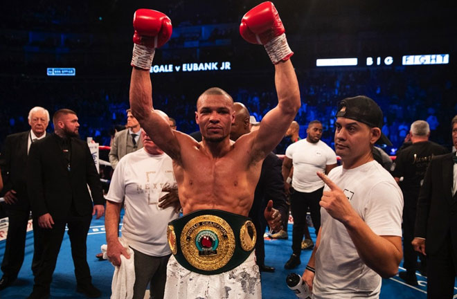 Eubank Jr claimed the IBO World Super Middleweight Title in February against James De Gale Credit: East Side Boxing