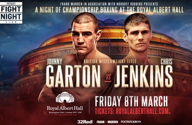 Johnny Garton To Defend British Welterweight Title Against Chris Jenkins. Photo Credit: Frank Warren