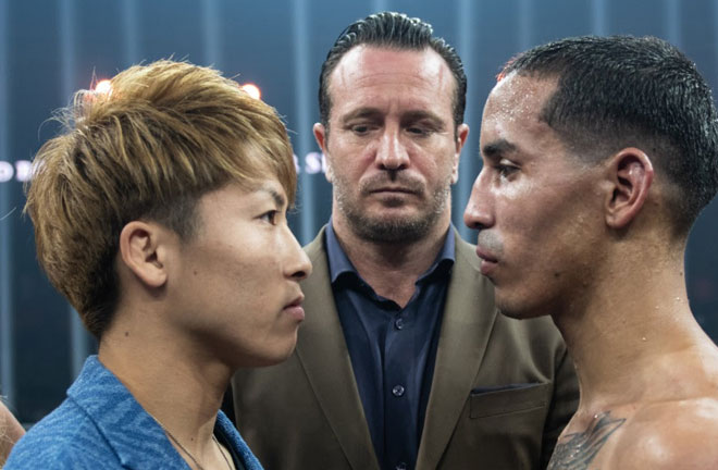 Inoue vs Rodriguez face off. Photo Credit: WBSS