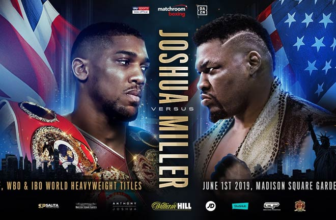 Anthony Joshua to face Jarrell Miller at Madison Square Garden. Photo Credit: Matchroom Boxing