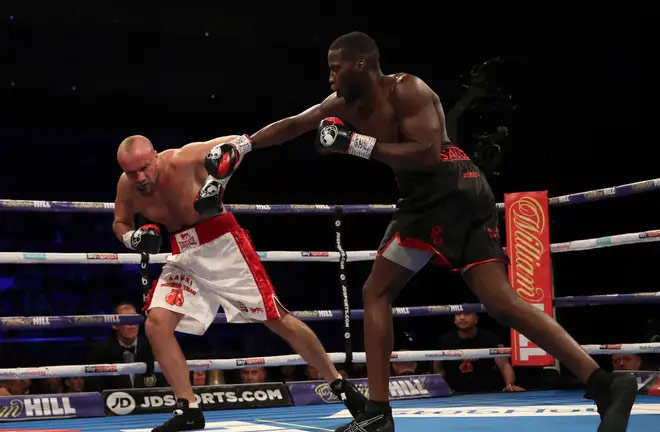 Lawrence Okolie knocked down Lodi three times to win in the third round. Photo Credit: The Independent