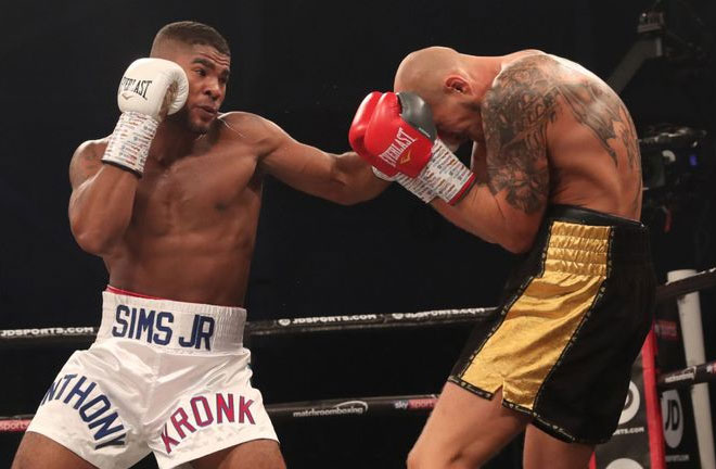Anthony Sims Jr takes on Roamer Alexis Angulo in Miami, January 30. Photo Credit: Sky Sports