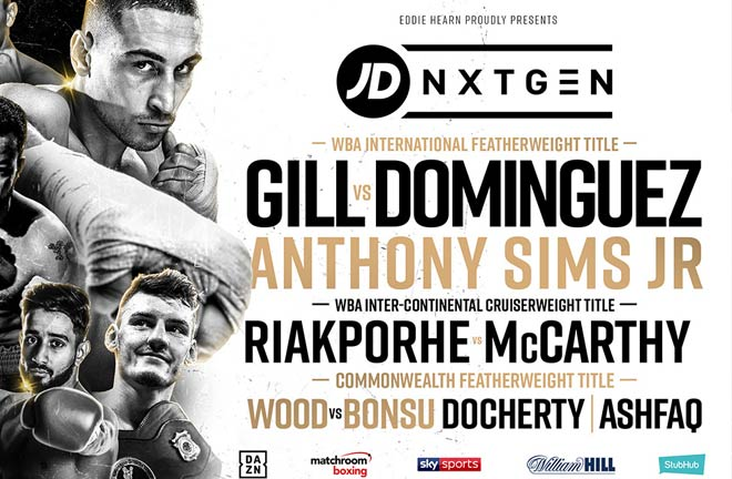 Jordan Gill faces Mexico's Emmanuel Dominguez for the WBA International Featherweight crown. Photo Credit: Matchroom Boxing