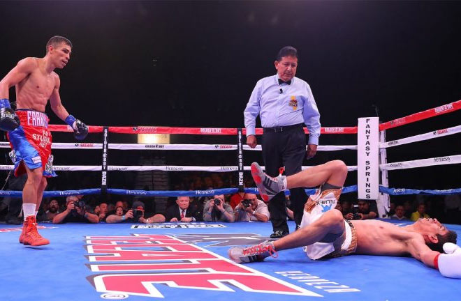 Rey Vargas had come off the canvas to successfully defend his WBC super-bantamweight title. Photo Credit: Boxing News