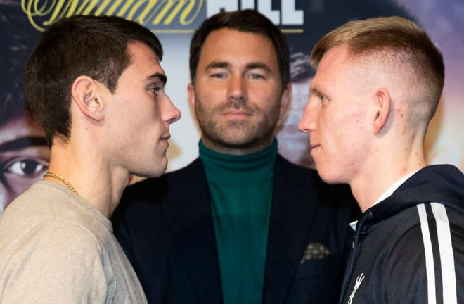 Cheeseman-Garcia face off at Press Conference earlier this week. Photo Credit: Sky Sports