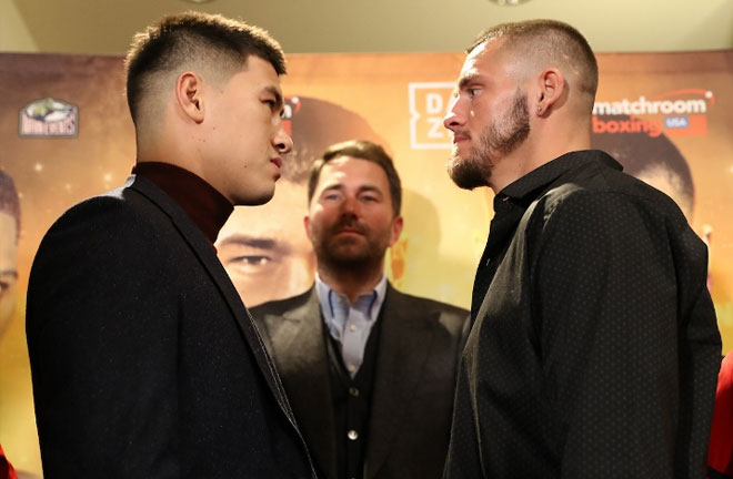 Bivol-Smith face off. Credit: Boxing Scene