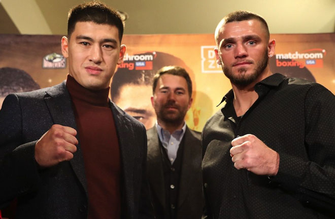 Bivol-Smith face off ahead of their fight this Saturday. Credit: East Side Boxing